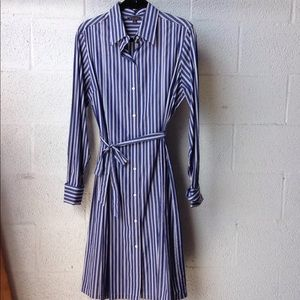 Brooks brothers striped longsleeve  button dress